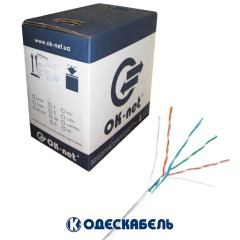 Кабель OK-net FTP cat.5е 4х2х0,48 (Одескабель) КПВЭ-ВП бухта 305м, медный